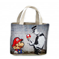 Banksy Mario and Copper Tote Shopping Bag For Life