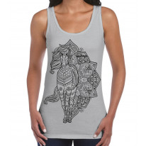 Tribal Horse Tattoo Large Print Women's Vest Tank Top