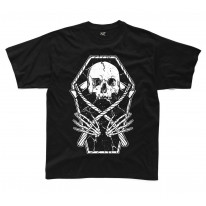 Grim Reaper Skeleton In A Coffin kids Children's T-Shirt