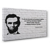 Abraham Lincoln Vegetarian Quote Box Canvas Print Wall Art - Choice of Sizes
