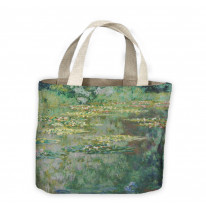 Claude Monet Le Bassin Aux Nympheas - Water Lillies Tote Shopping Bag For Life