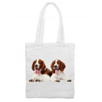 Welsh Springer Spaniel Puppies Tote \ Shoulder Bag