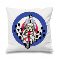 Mod Scooter Mirrors Scatter Cushion
