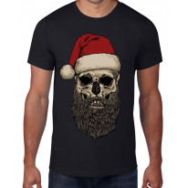 Santa Claus Hipster Beard Christmas Men's T-Shirt