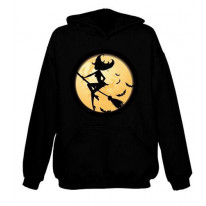 Witch On Broomstick Hoodie
