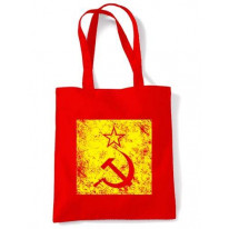 Hammer & Sickle Grunge Logo Bag