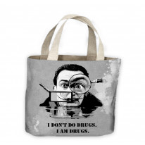 Salvador Dali Drugs Quote Tote Shopping Bag For Life