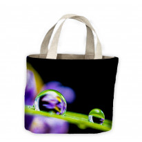 Drops of Water on Blade of Grass Tote Shopping Bag For Life