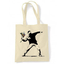 Banksy Flower Thrower Shoulder bag