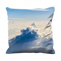 High Altitude Clouds Blue Sky Faux Silk 45cm x 45cm Sofa Cushion