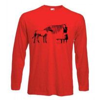 Banksy Washing Zebra Stripes Long Sleeve T-Shirt