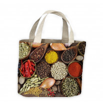 Indian Spices Tote Shopping Bag For Life