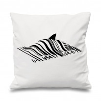 Banksy Barcode Shark Cushion