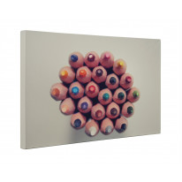 Coloured School Pencils Box Canvas Print Wall Art - Choice of Sizes