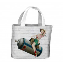 Banksy Cowgirl Tote Shopping Bag For Life
