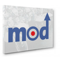 Mod Logo Canvas Print Wall Art - Choice Of Sizes