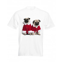 Pug Santa Men's Christmas T-Shirt