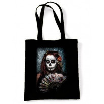 Day Of The Dead Girl With Fan Shoulder Bag