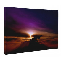 Violet Sunset Box Canvas Print Wall Art - Choice of Sizes