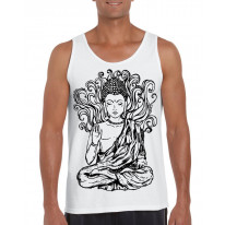 Buddha Design Large Print Men's Vest Tank Top