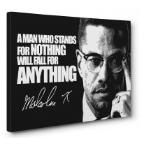 Malcolm X Quote Box Canvas Print Wall Art - Choice of Sizes