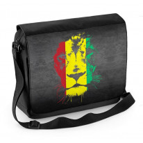 Lion Of Judah Rasta Colours Reggae Laptop Messenger Bag