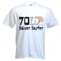 70 Year Old Silver Surfer 70th Birthday Men's T-Shirt