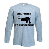 Black Panther Power To The People Long Sleeve T-Shirt