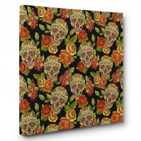 Sugar Skulls Box Canvas Print Wall Art - Choice of Sizes