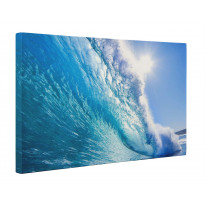 Waves Breaking Seascape Box Canvas Print Wall Art - Choice of Sizes
