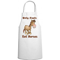 Only Fools Eat Horses Vegetarian Kitchen Apron