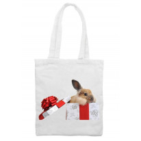 Rabbit In A Giftbox Christmas Shoulder Bag