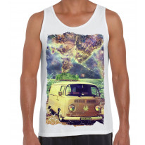 Ganja Bus Cannabis Large Print Men's Vest Tank Top