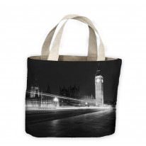 Big Ben London Black and White Tote Shopping Bag For Life
