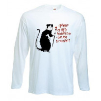 Banksy Im Out Of Bed And Dressed Rat Long Sleeve T-Shirt