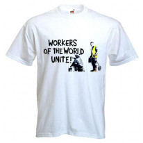 Banksy Workers Of The World Unite Mens T-Shirt