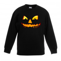Halloween Pumpkin Face Children's Unisex Sweatshirt Jumper