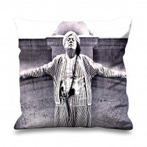 Aleister Crowley Turban Faux Silk 45cm x 45cm Sofa Cushion