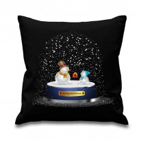 Snow Globe Christmas Cushion
