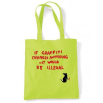 Banksy If Graffiti Changed Anything bag