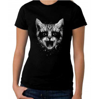 Heavy Metal Pussy Cat Women's T-Shirt Dress