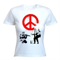 Banksy CND Soldiers Ladies T-Shirt