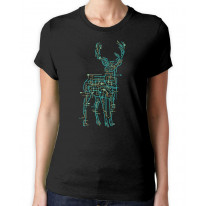 Electric Deer Stag Hipster Women's T-Shirt