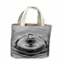 Drop of Water Black and White Tote Shopping Bag For Life