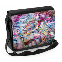 Abstract Teeth Graffiti Laptop Messenger Bag