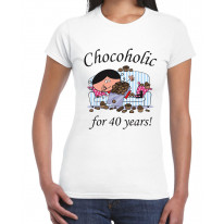 Chocoholic For 40 Years 40th Birthday Women's T-Shirt