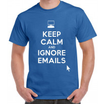 Keep Calm and Ignore Emails Men's T-Shirt