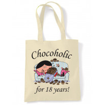 Chocoholic For 18 Years 18th Birthday Tote Bag