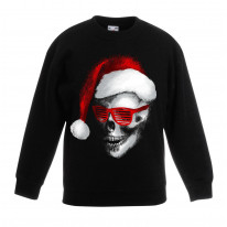 Santa Claus Skull Father Christmas Bah Humbug Kids Sweater \ Jumper