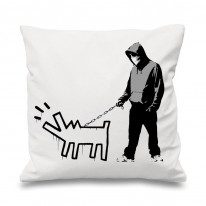 Banksy Choose Your Weapon Cushion